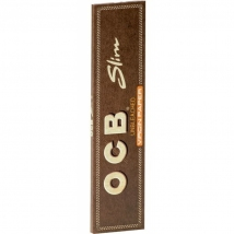 OCB Unbleached Virgin Paper Slim 50x32 Bl.