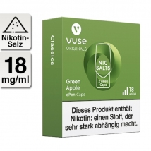 VUSE ePen Caps Green Apple Nic Salts 18mg 2er